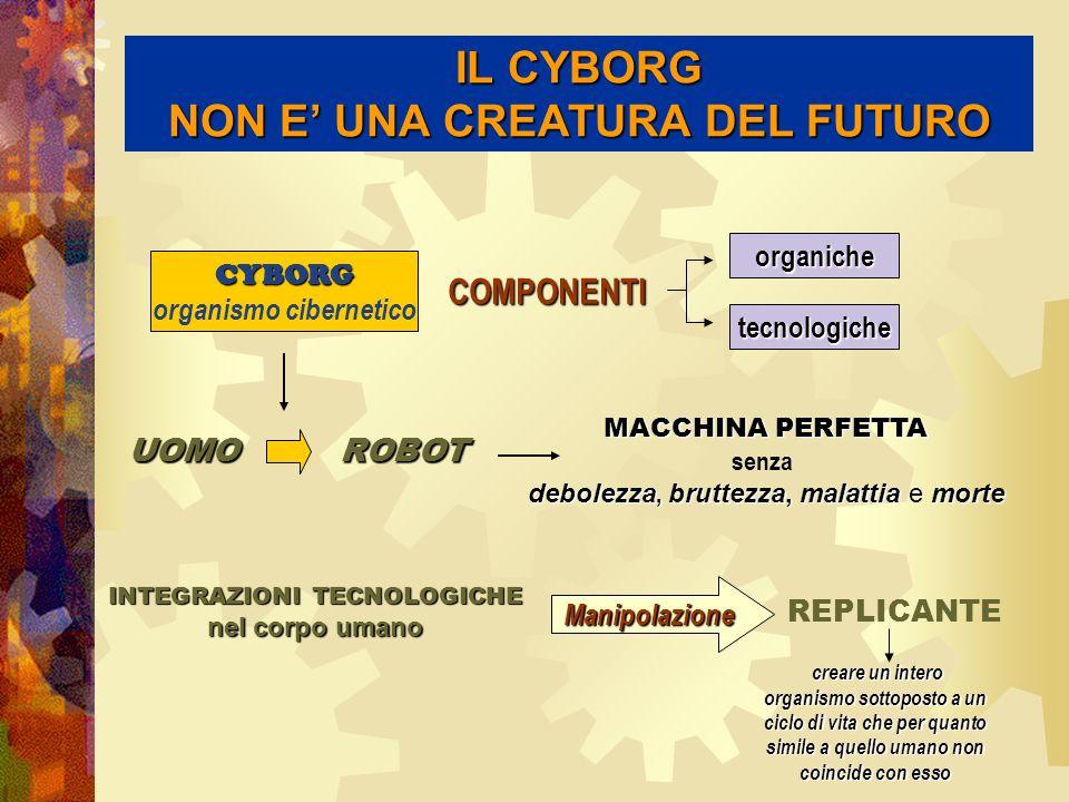 IL CYBORG NON E' UNA CREATURA DEL FUTURO