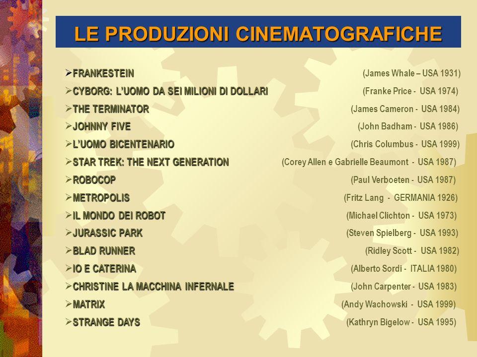 LE PRODUZIONI CINEMATOGRAFICHE