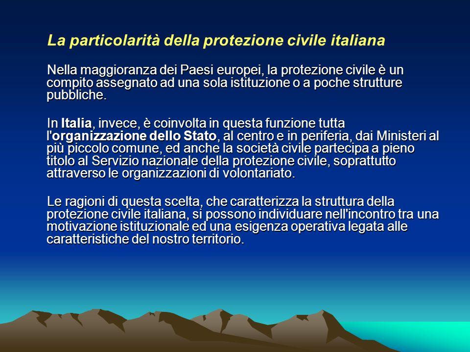 La particolarità della protezione civile italiana