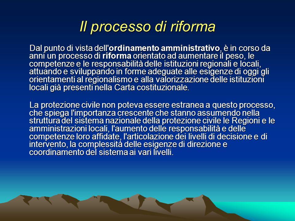 Il processo di riforma