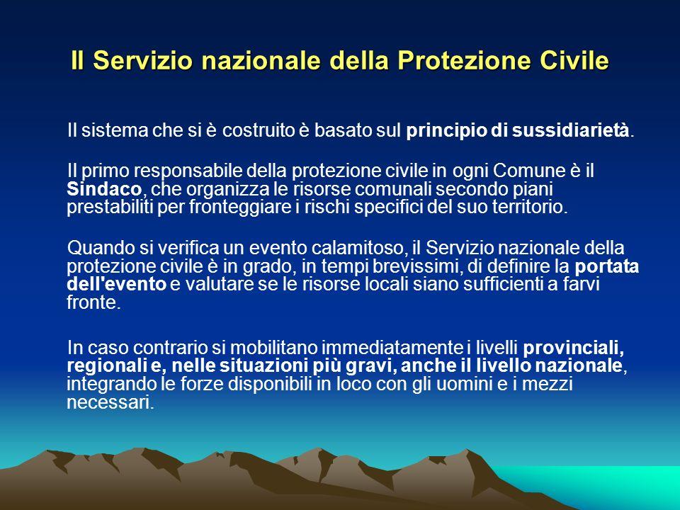 Il Servizio nazionale della Protezione Civile