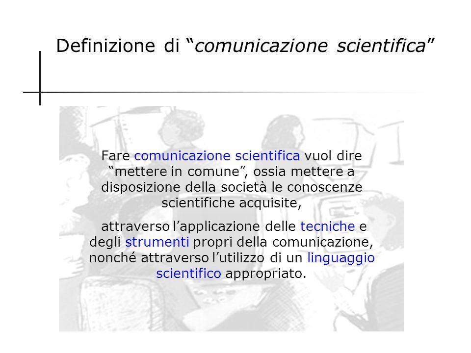 Definizione di comunicazione scientifica
