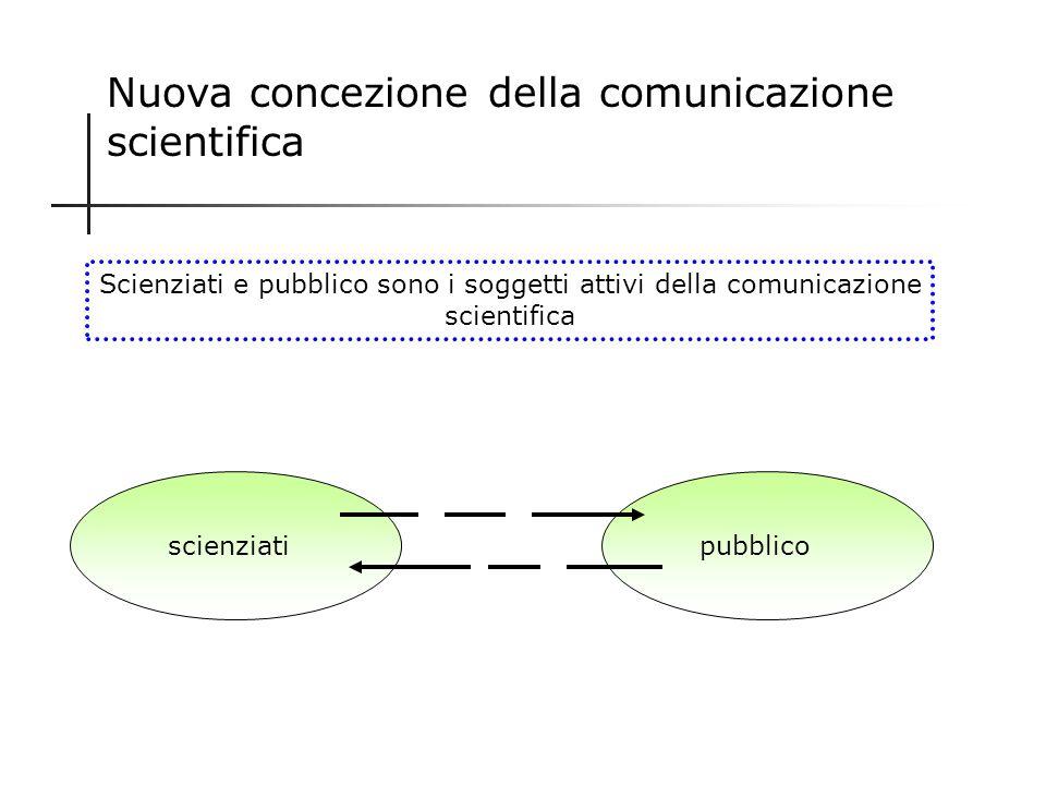 Nuova concezione della comunicazione scientifica