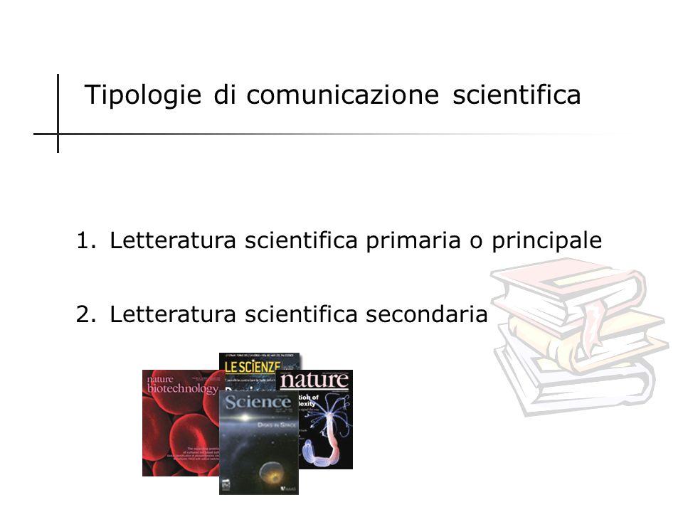 Tipologie di comunicazione scientifica