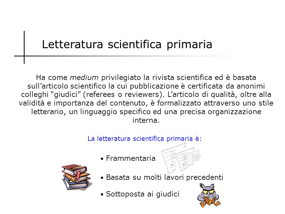 Letteratura scientifica primaria