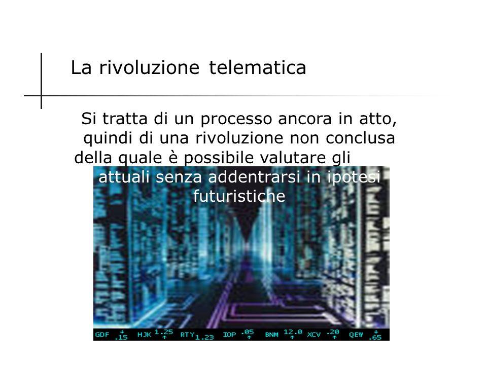La rivoluzione telematica