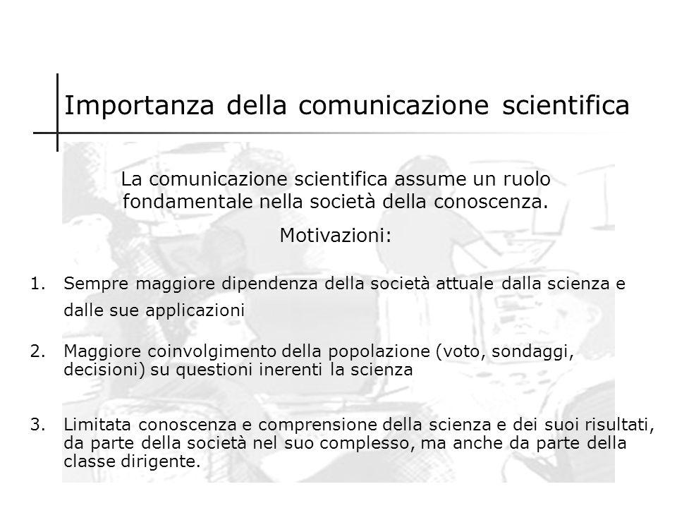 Importanza della comunicazione scientifica