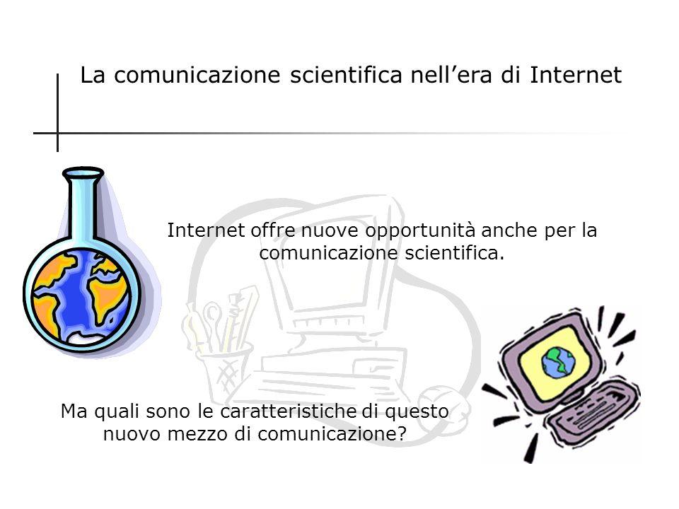 La comunicazione scientifica nell'era di Internet