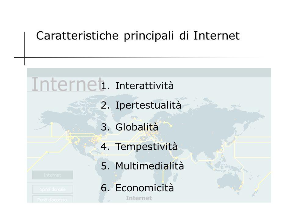 Caratteristiche principali di Internet
