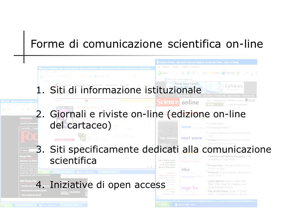 Forme di comunicazione scientifica on-line
