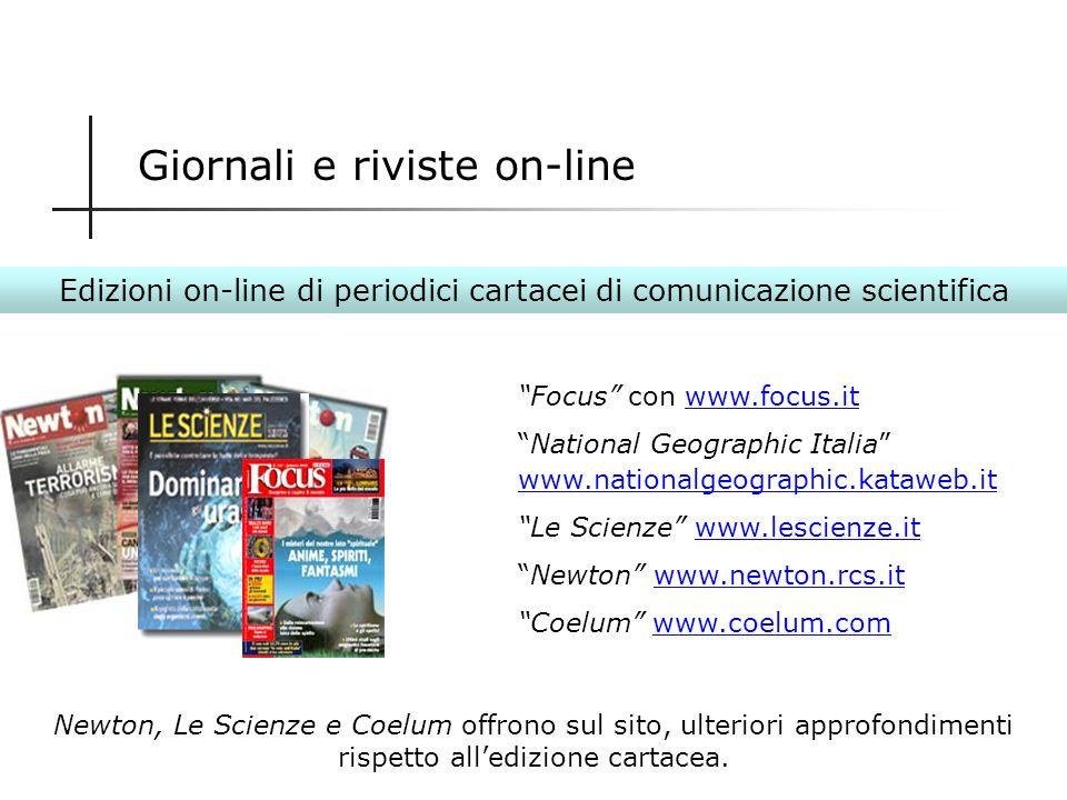 Giornali e riviste on-line