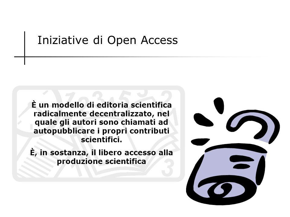 È, in sostanza, il libero accesso alla produzione scientifica