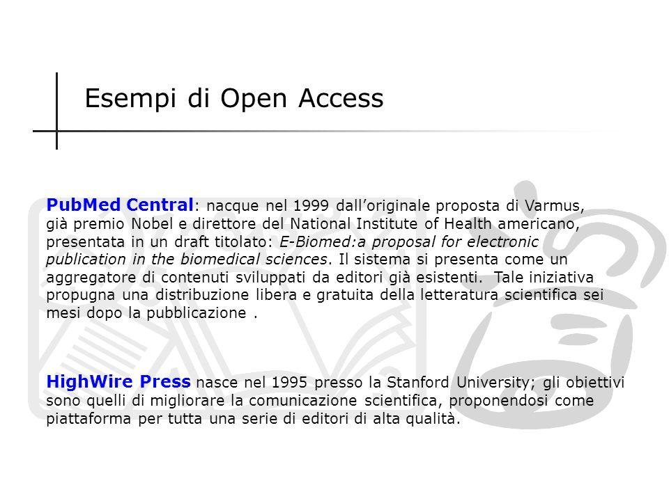 Esempi di Open Access