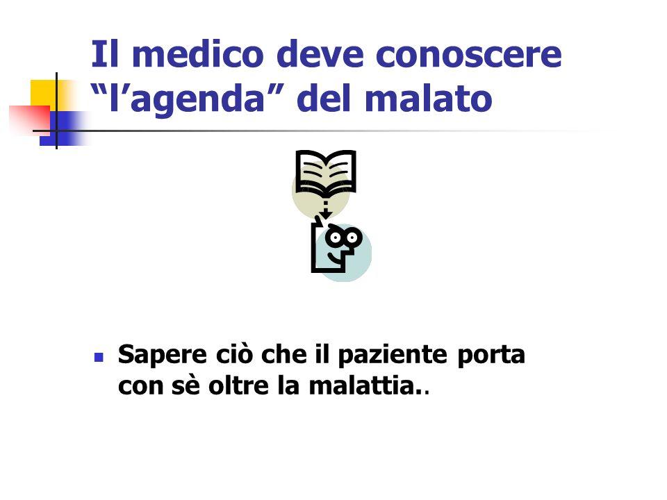 Il medico deve conoscere l'agenda del malato