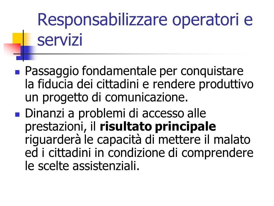 Responsabilizzare operatori e servizi