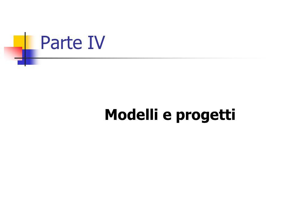 Parte IV Modelli e progetti