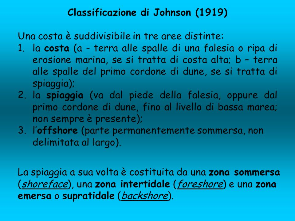 Classificazione di Johnson (1919)