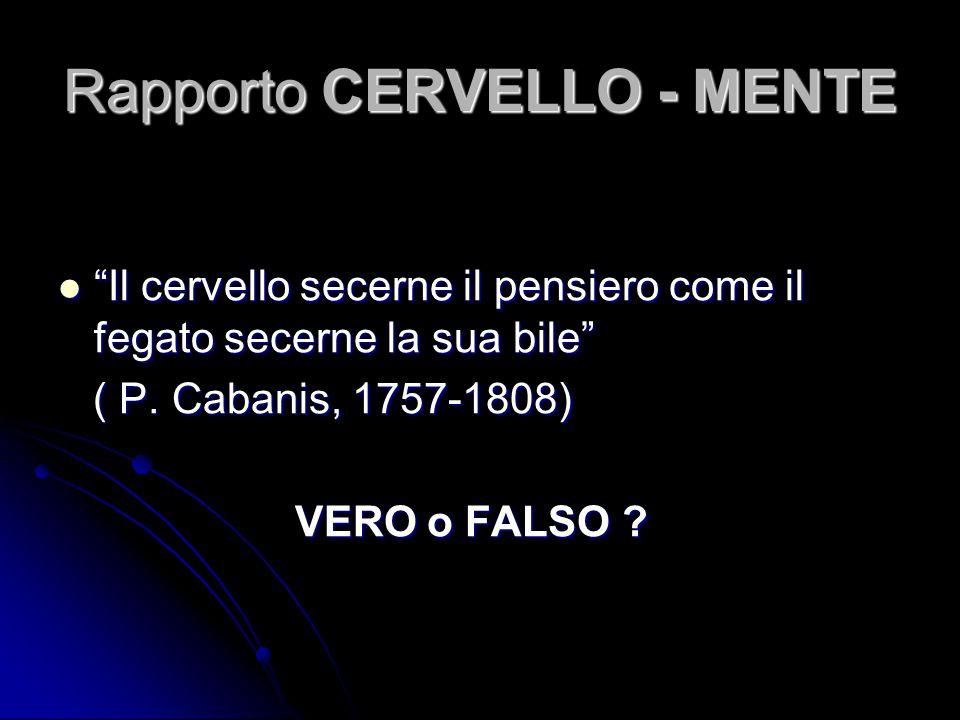Rapporto CERVELLO - MENTE