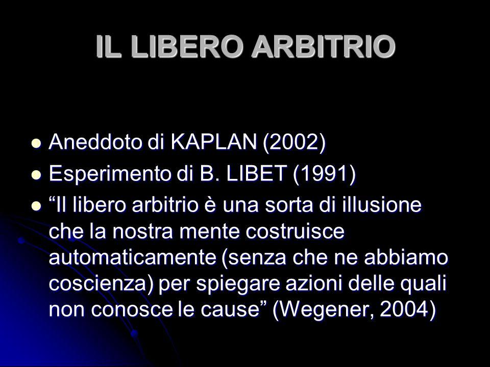 IL LIBERO ARBITRIO Aneddoto di KAPLAN (2002)