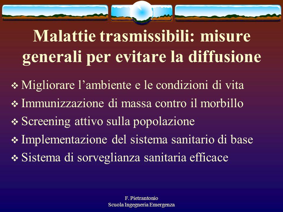 Malattie trasmissibili: misure generali per evitare la diffusione