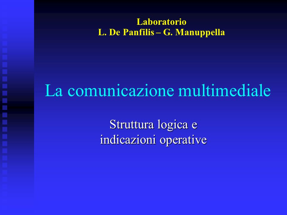 La comunicazione multimediale