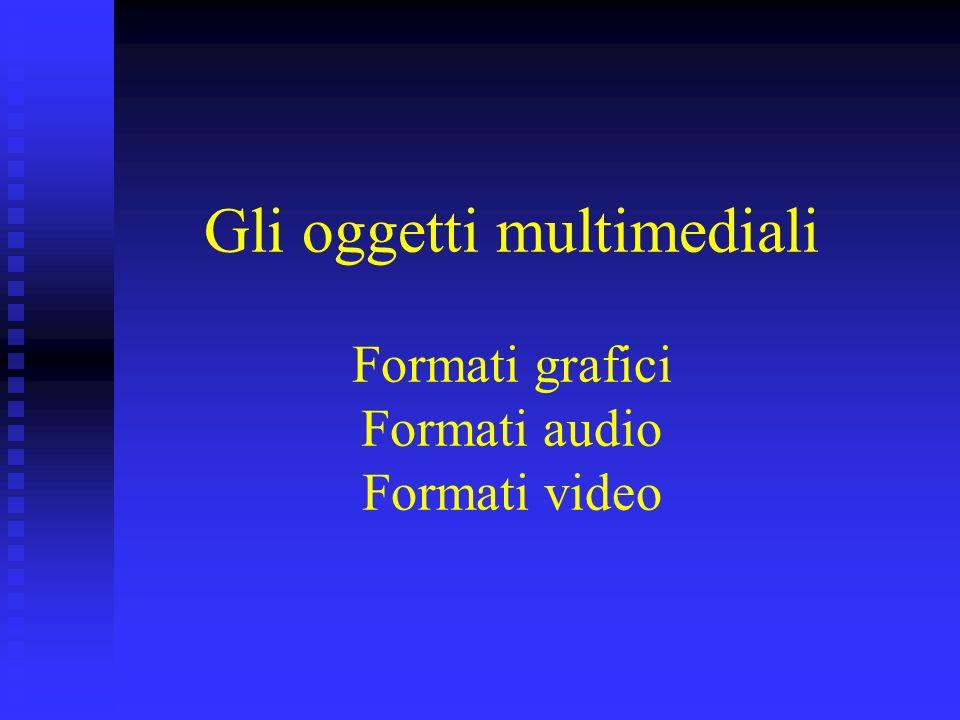 Gli oggetti multimediali