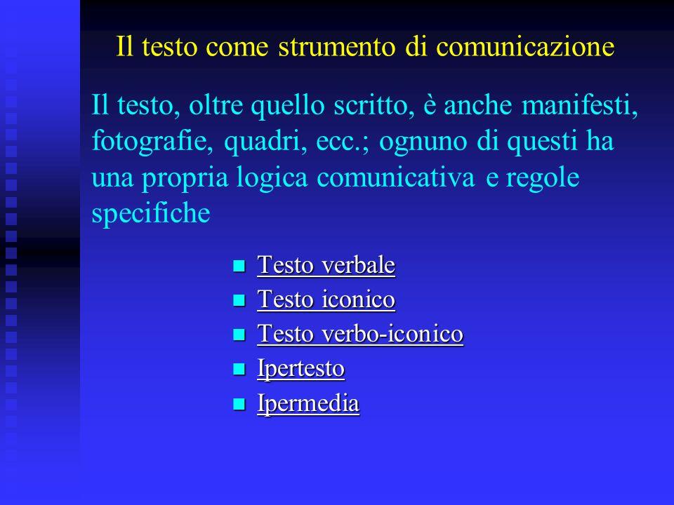 Il testo come strumento di comunicazione