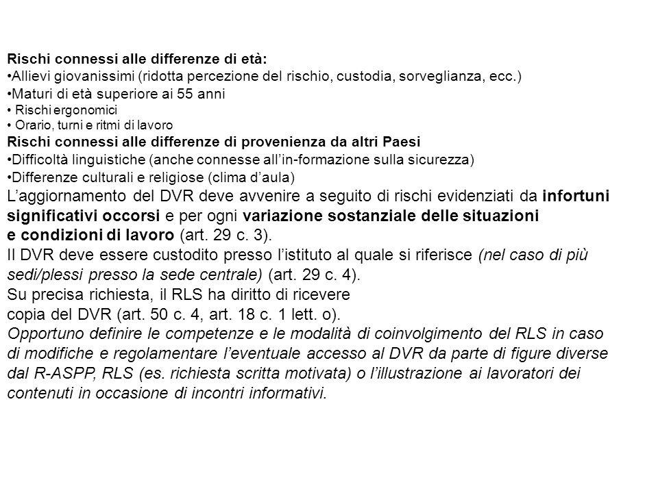 e condizioni di lavoro (art. 29 c. 3).