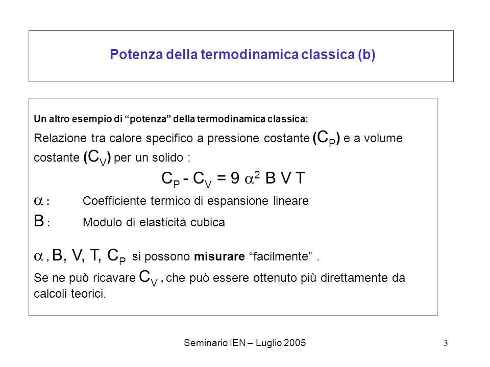 Potenza della termodinamica classica (b)