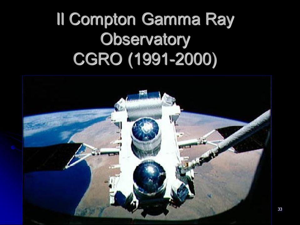 Il Compton Gamma Ray Observatory CGRO (1991-2000)