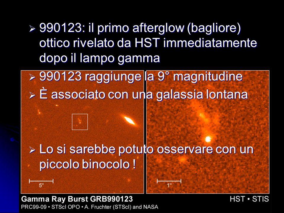 990123: il primo afterglow (bagliore) ottico rivelato da HST immediatamente dopo il lampo gamma