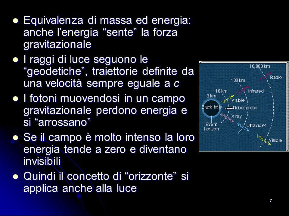 Equivalenza di massa ed energia: anche l'energia sente la forza gravitazionale