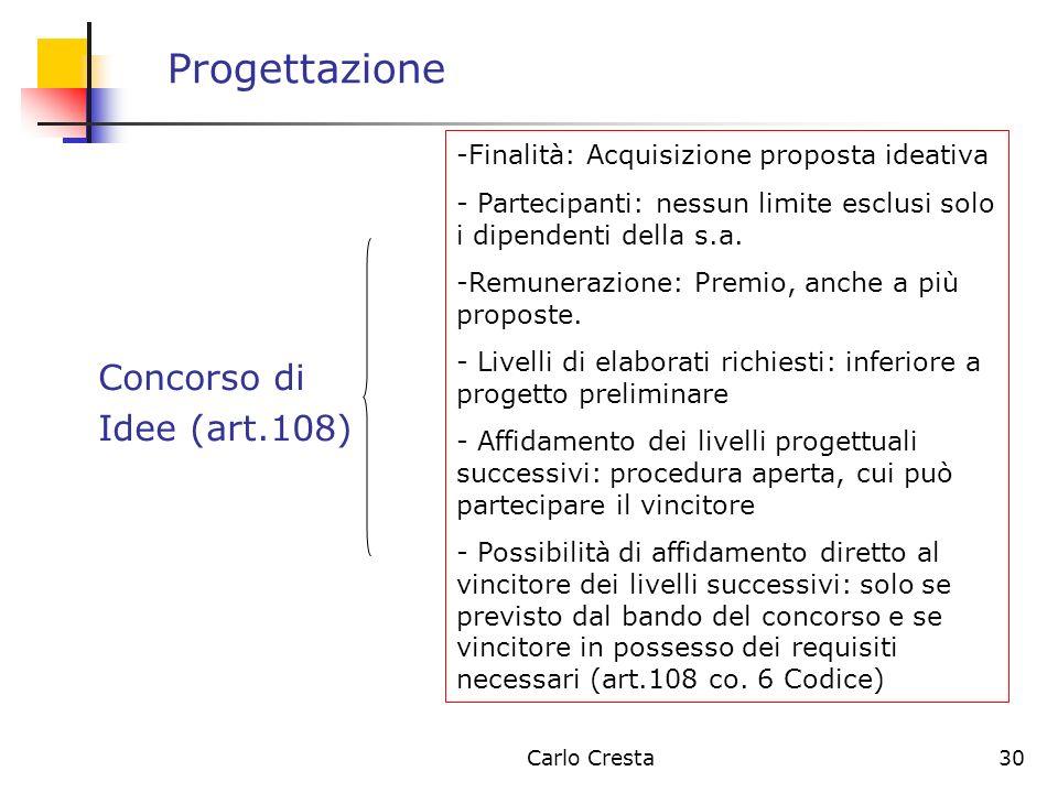 Progettazione Concorso di Idee (art.108)