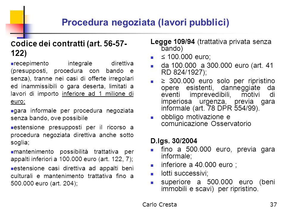 Procedura negoziata (lavori pubblici)