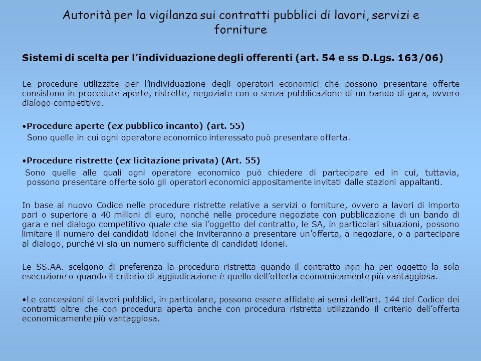 Autorità per la vigilanza sui contratti pubblici di lavori, servizi e forniture