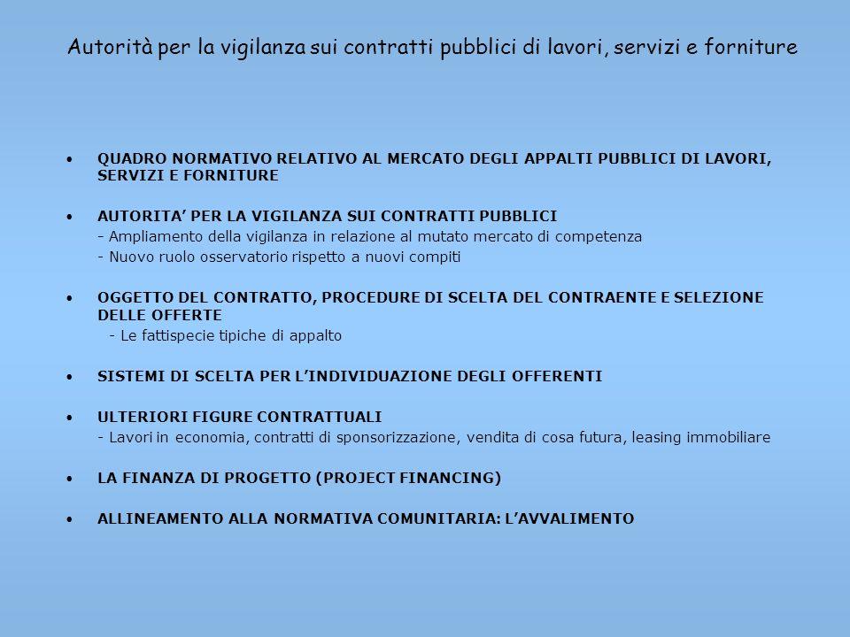 Dalla legge lavori pubblici 109/94 al Codice dei contratti pubblici
