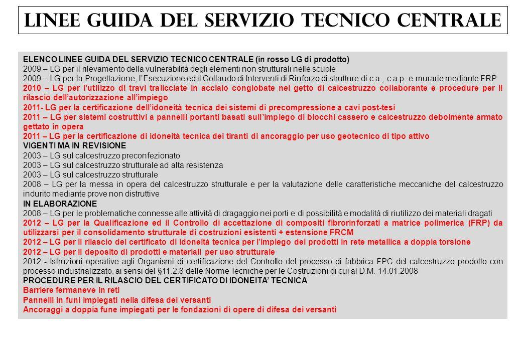 LINEE GUIDA DEL SERVIZIO TECNICO CENTRALE