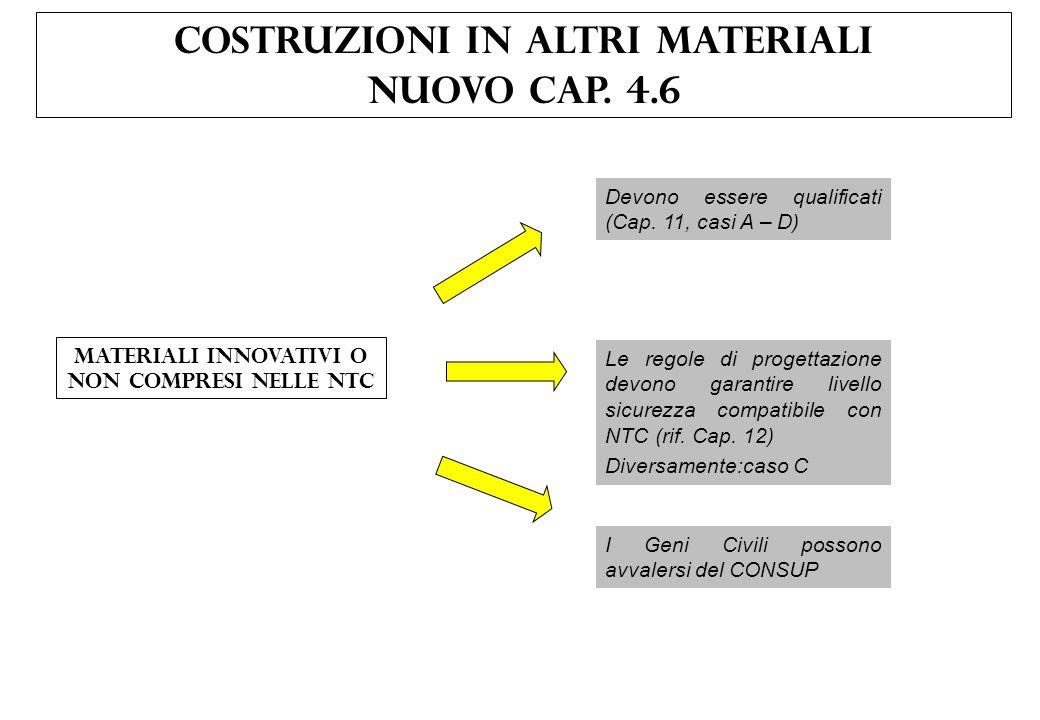 COSTRUZIONI IN ALTRI MATERIALI NUOVO CAP. 4.6