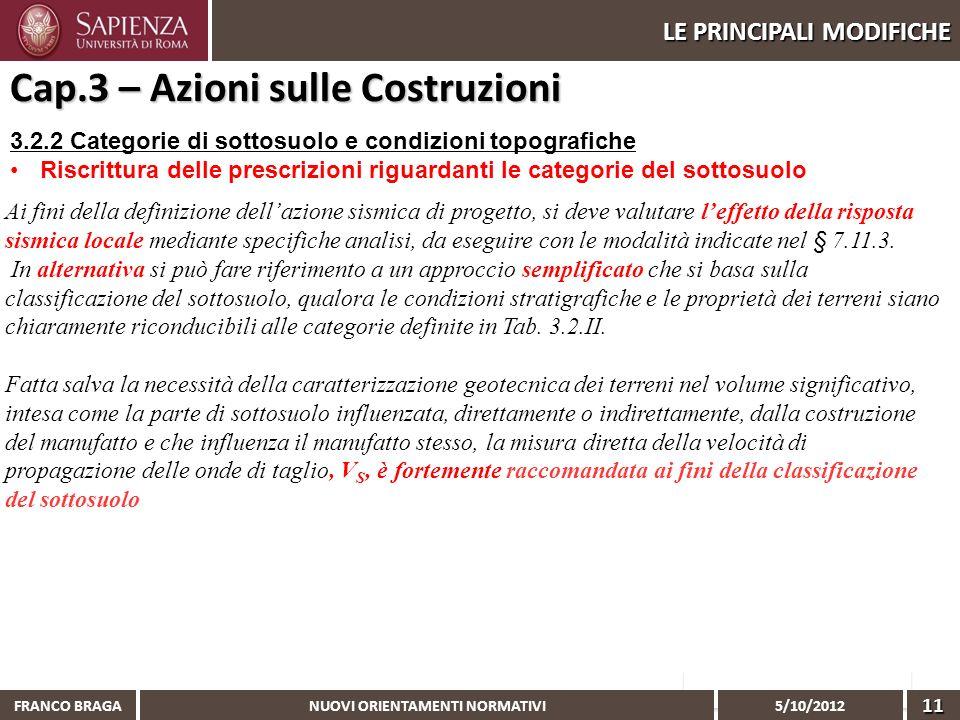 Cap.3 – Azioni sulle Costruzioni