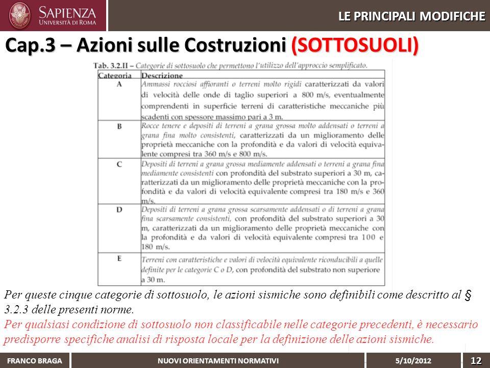 Cap.3 – Azioni sulle Costruzioni (SOTTOSUOLI)