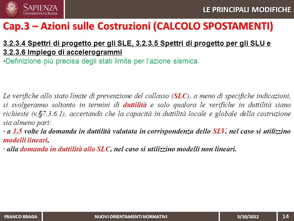 Cap.3 – Azioni sulle Costruzioni (CALCOLO SPOSTAMENTI)