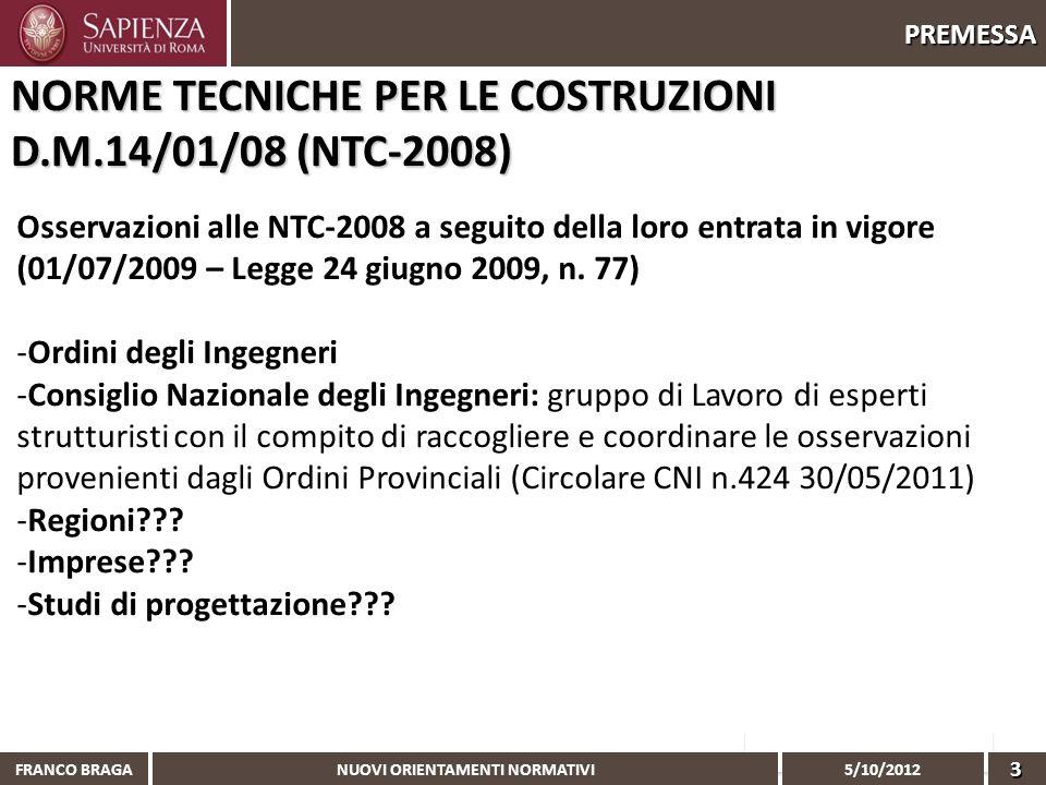 NORME TECNICHE PER LE COSTRUZIONI D.M.14/01/08 (NTC-2008)