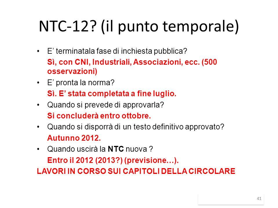 NTC-12 (il punto temporale)