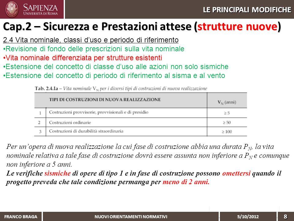 Cap.2 – Sicurezza e Prestazioni attese (strutture nuove)