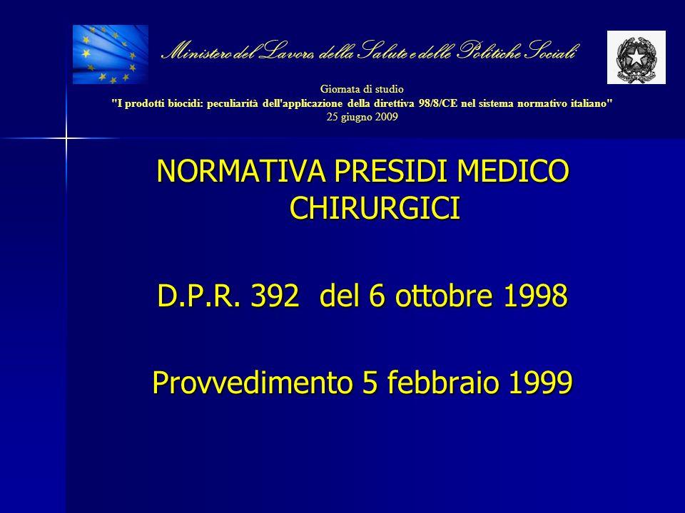 NORMATIVA PRESIDI MEDICO CHIRURGICI