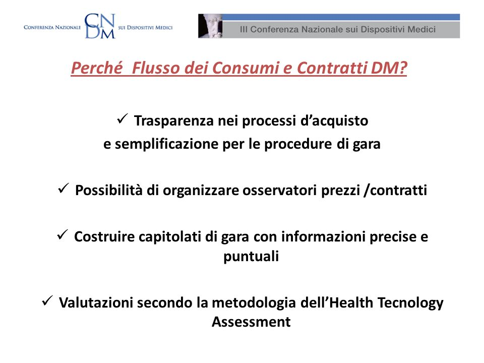 Perché Flusso dei Consumi e Contratti DM
