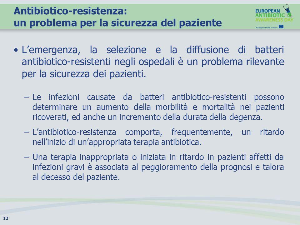 Antibiotico-resistenza: un problema per la sicurezza del paziente