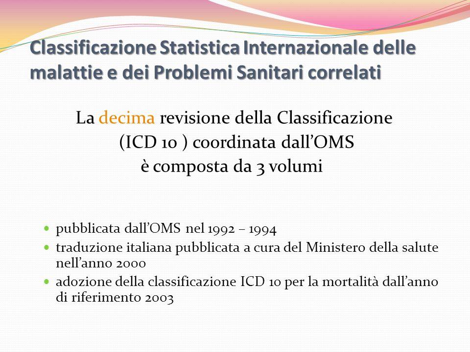 Classificazione Statistica Internazionale delle malattie e dei Problemi Sanitari correlati