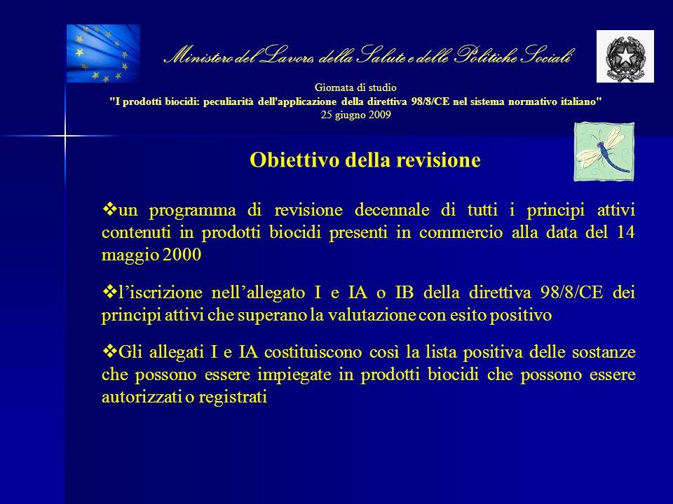 Obiettivo della revisione