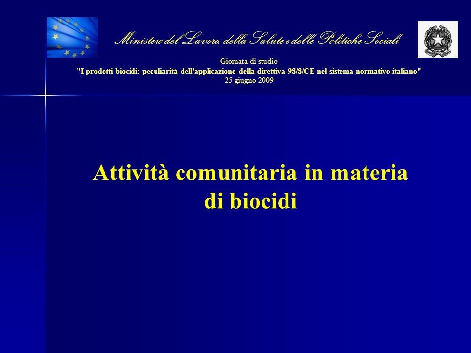 Attività comunitaria in materia di biocidi